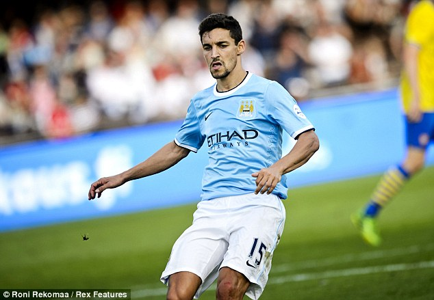 Speedster: Jesus Navas, signed from Sevilla for £17.6m, offers pace on the wings and a dangerous cross
