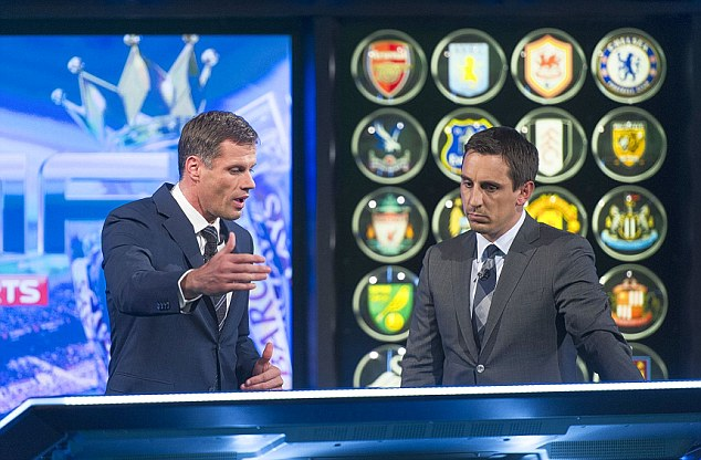New line-up: Sky have added Jamie Carragher to their Monday Night Football team alongside Gary Neville