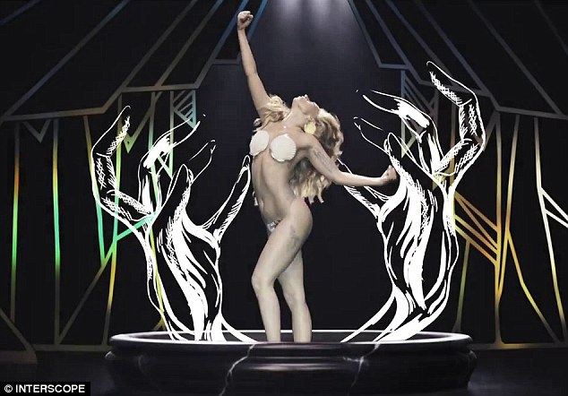 Traded eggs for shells: The Born this Way hitmaker also appeared as a seashell bra-clad Venus in her Applause music video directed by Inez & Vinoodh