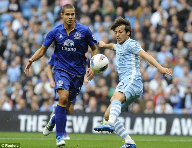 Moving on: Jack Rodwell  left Everton once Manchester City - showed interest