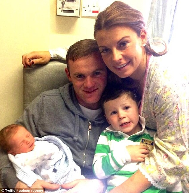 The family: Coleen and Wayne welcomed their second son into the world in May of this year