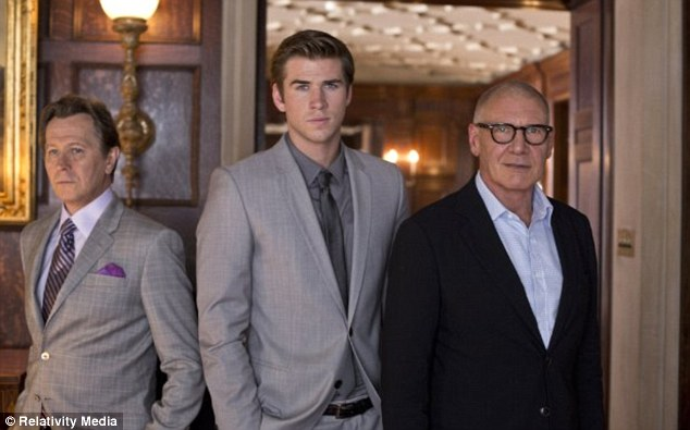 Bad news: Harrison Ford's latest film Paranoia, which also stars Gary Oldman and Liam Hemsworth, took just $3.5m at the box office on its opening weekend making it the worst performing film of the actor's career