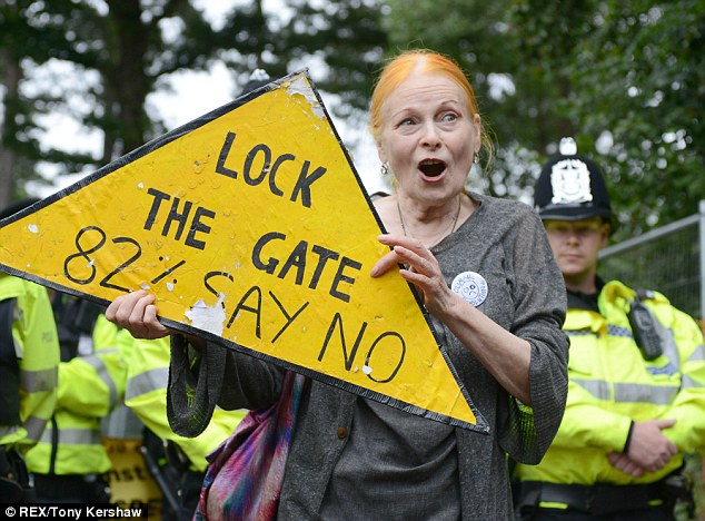 With the arrival of figures such as the fashion designer Dame Vivienne Westwood in their midst, the protesters' cause is being given more prominence than it deserves