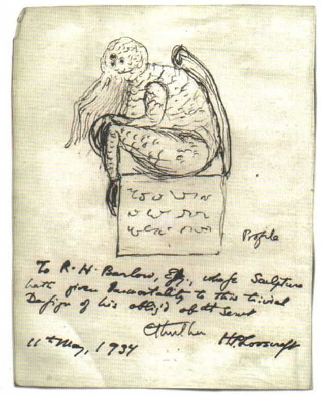 Perhaps Lovecraft's best known creation is his Cthulu monster, an ancient evil he created in a short story