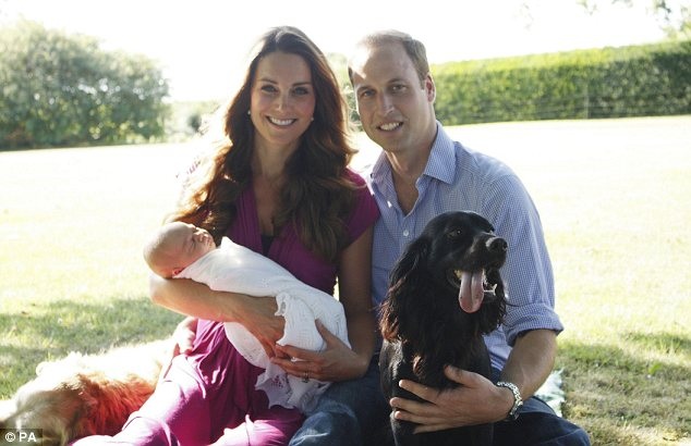 Serene in Seraphine: The Duchess of Cambridge's fuchsia maternity dress sold out within two hours of this intimate family portrait being published last night
