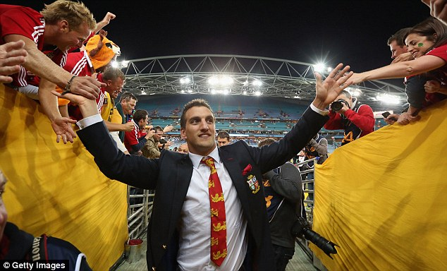 Captain fantastic: Warburton is congratulated after the Lions' series victory over Australia in July
