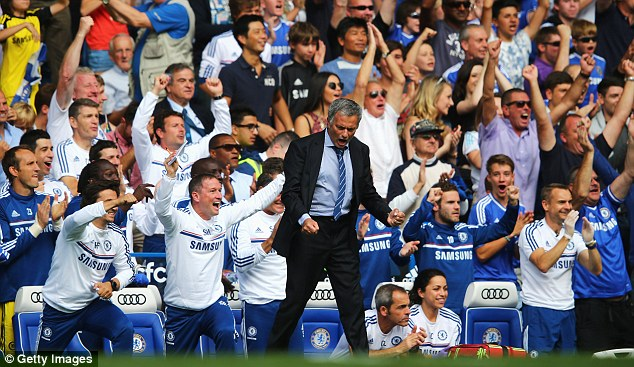 Roar: Mourinho is adamant Chelsea will fire on all cylinders when experience and fitness comes