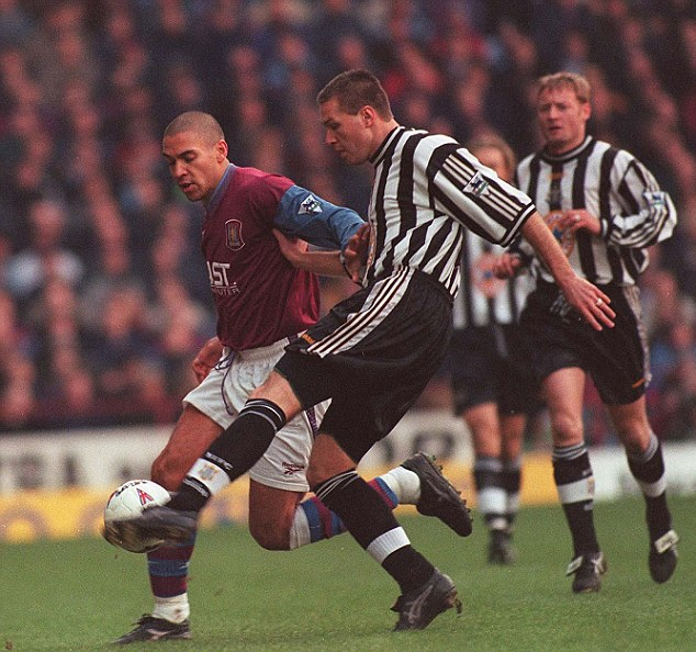 Hung out to dry: Former Newcastle defender Steve Howey has been critical of the ownership