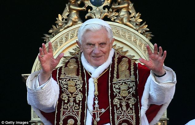 'God told me to do it': Benedict, whose formal title is now Pope Emeritus, announced his shock resignation in February and became the first pontiff to step down in 600 years