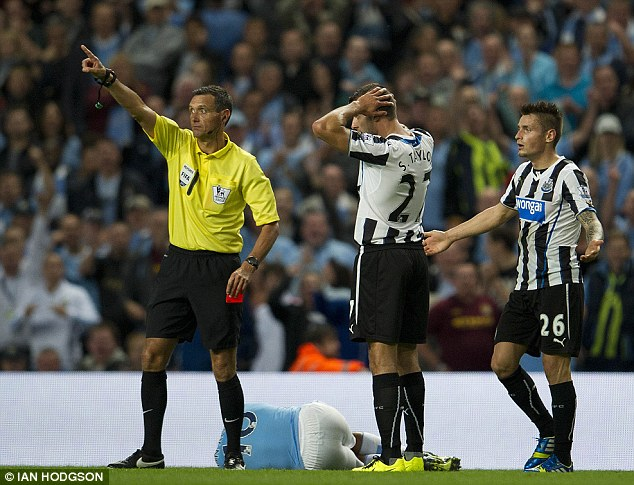 Needless: Steven Taylor faces a three match suspension for his sending off