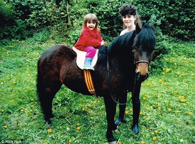 Family: Sharyl bonded with her niece Julia over their mutual adoration of all things equine