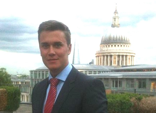 Work experience: Student Moritz Erhardt, pictured in front of St Paul's Cathedral, was working as an intern in London
