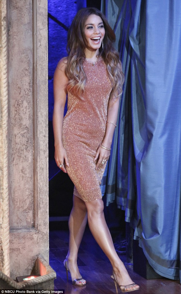 It's paying off: Earlier this month, Vanessa looked stunning in a glittering bronze dress when she appeared on Late Night With Jimmy Fallon