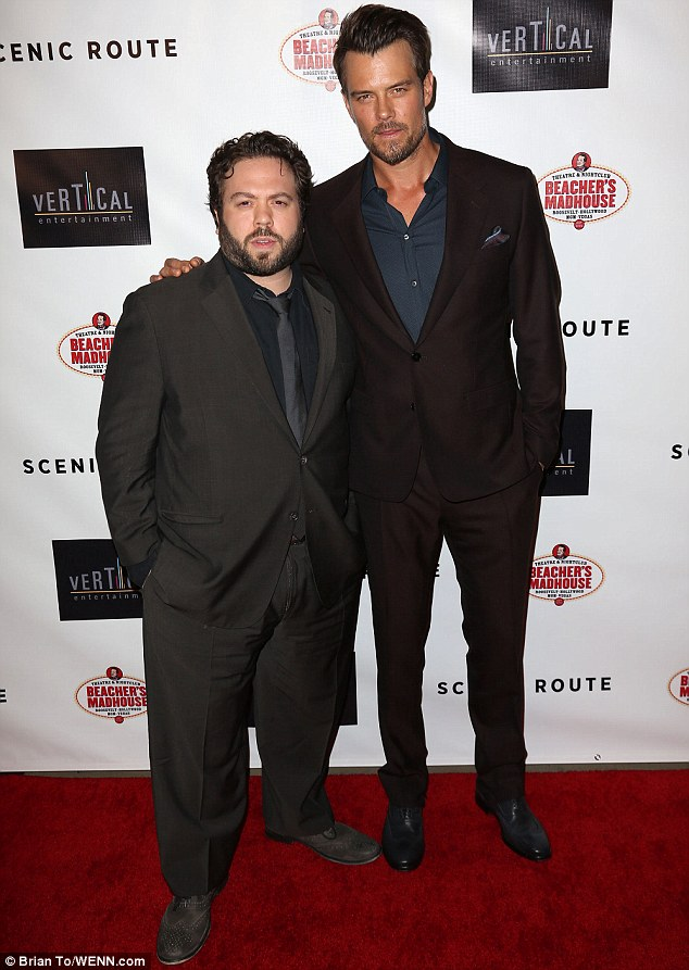 Stars of the show: Josh was joined by his co-star Dan Fogler who plays his friend in the movie
