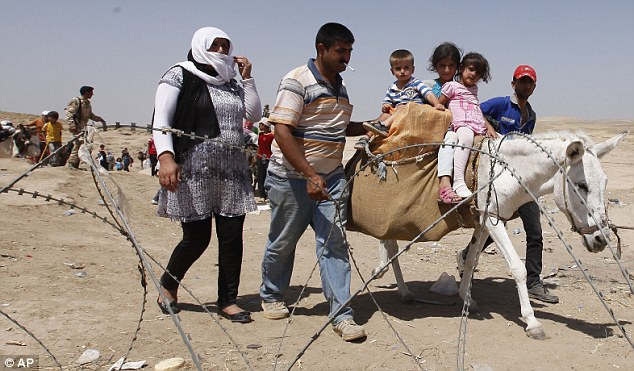 Around 30,000 Syrians, the vast majority of them Kurds, have fled the region over a five-day stretch and crossed the border to the self-ruled Kurdish region of northern Iraq