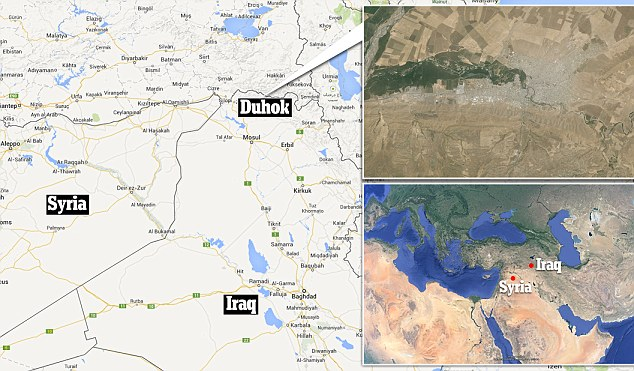 Exodus: The Syrians are fleeing into the Duhok region in north-west Iraq