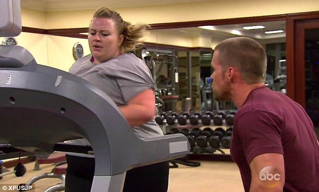 Trainer Chris put Ashley through a grueling exercise regime as well as overhauling her unhealthy diet