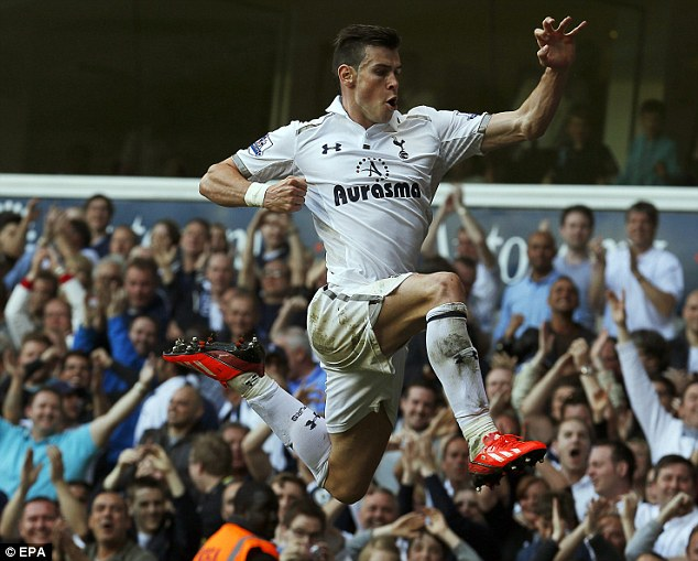 Jumping for joy: Gareth Bale will join Real Madrid after Tottenham accepted a fee for the Welsh wizard