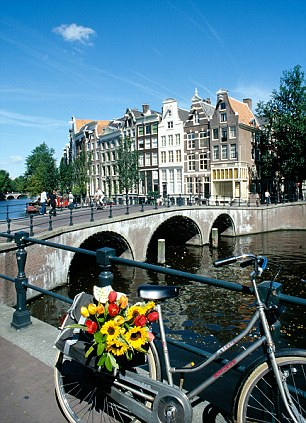 Wrong: The salubrious canals of Amsterdam (left) may be a draw for many, but 36 per cent of respondents mixed it up with Copenhagen. Right, the statue of The Little Mermaid in Copenhagen