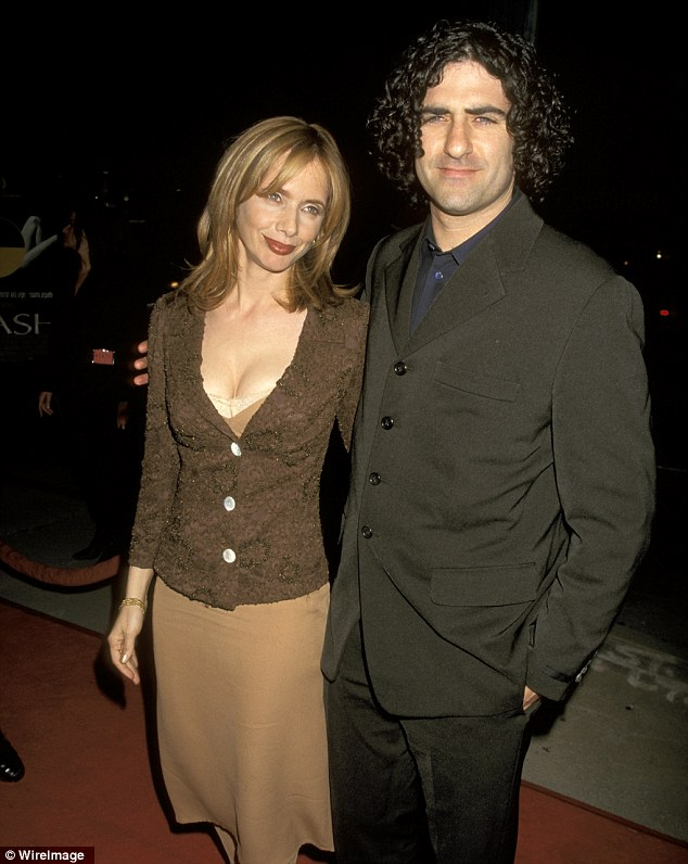 Third marriage: Rosanna was also married to restaurant owner John Sidel from 1993 to 1999 - here they attended the premiere of Crash in Los Angeles back in 1997