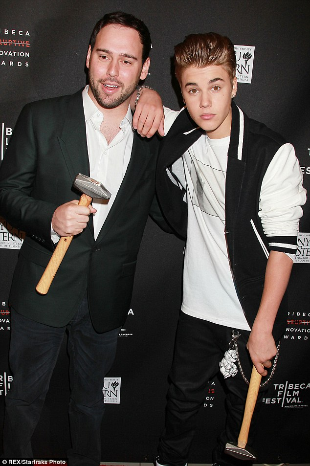 New signing? Justin Bieber's manager, Scooter Braun, is also apparently in talks to join the judging panel