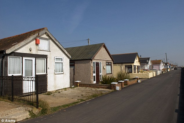 Run down: Homes in Jaywick near Clacton-on-Sea in Essex