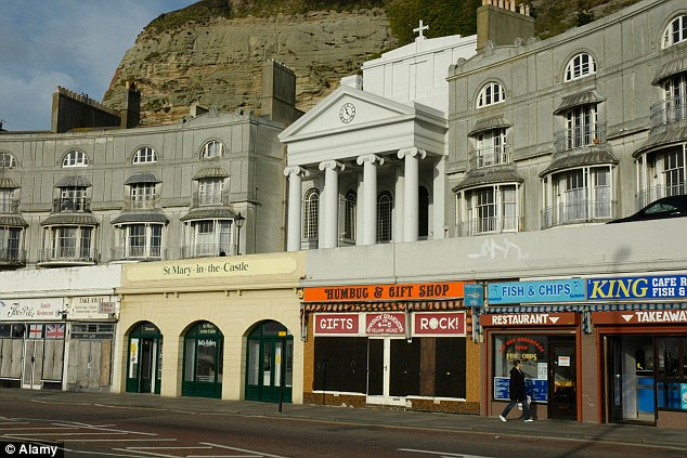 Shabby: Pelham Arcade in Hastings which came in third of most deprived coastal towns in the UK