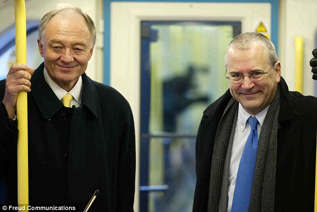Ally: Sir Peter, right, with former Mayor Ken Livingstone at a photocall