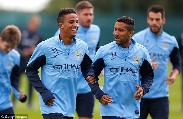 Good run: Sinclair (left) is desperate for first-team football