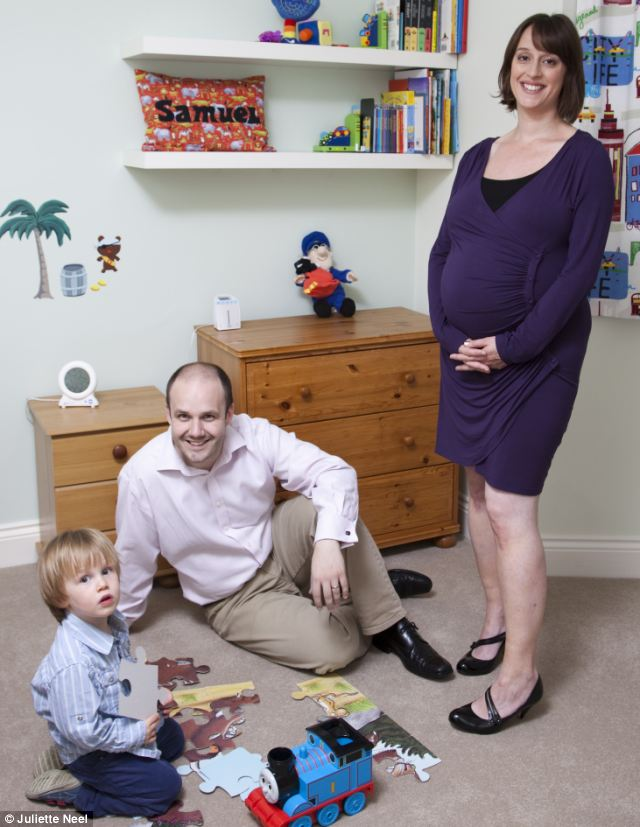 Boys' toys: Matt is proud to tell all and sundry how he gets home from work every day to play with his two-year-old son