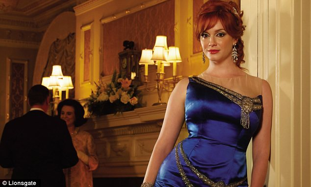 Joan Harris (Christina Hendricks) in the television programme, 'Mad Men'  Season 6