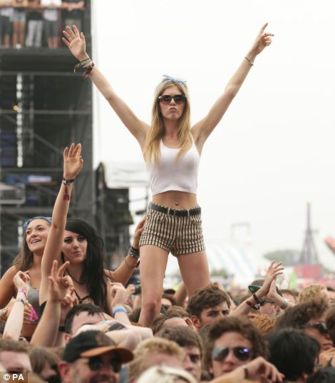 The festival officially opened today with many revellers having braved overnight downpours to bag themselves a prime spot to watch their favourite bands