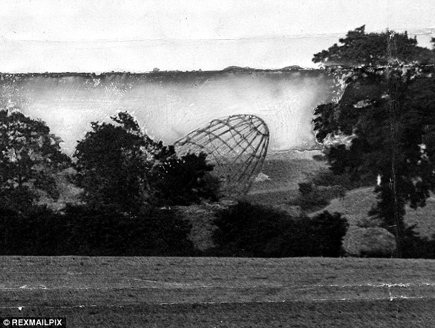 Gunned down: A Zeppelin Z 48 comes down in East Anglia in 1917