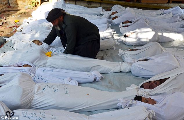 Death toll: Hundreds died in the alleged chemical attacks, including many women and children