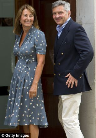 Breaking tradition: Carole and her husband Michael, left, will have their own space at the Palace