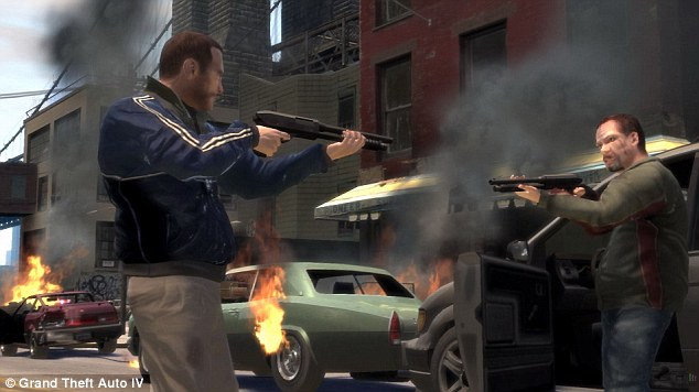 The game: The Grand Theft Auto video games are notoriously violent and involve both maneuvering cars and shooting