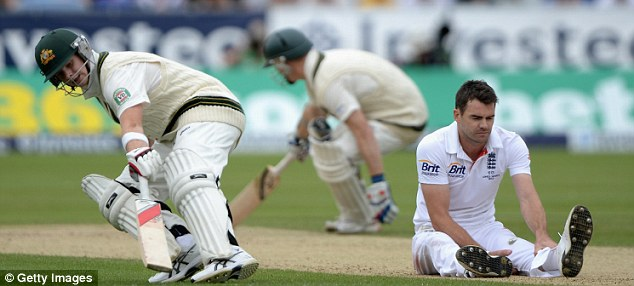 A bit down: Anderson has been out of form in a couple of Tests this summer