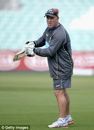 Stirring the pot: Both Darren Lehmann (left) and James Faulkner have tried to wind England up