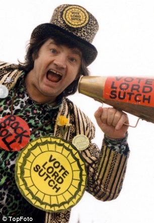 Knew he was nuts: Lord Sutch, leader of the National Teenage Party