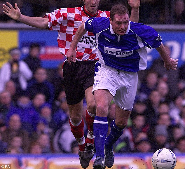 The greatest player of a generation: Stubbs played with Paul Gascoigne at Everton