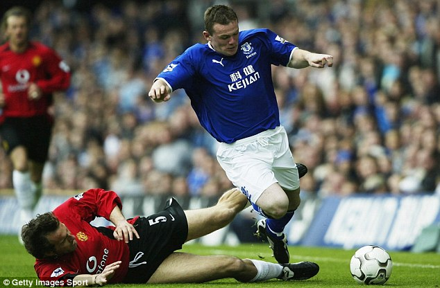 And the best of another: Stubbs was also a team-mate of Wayne Rooney at Goodison Park