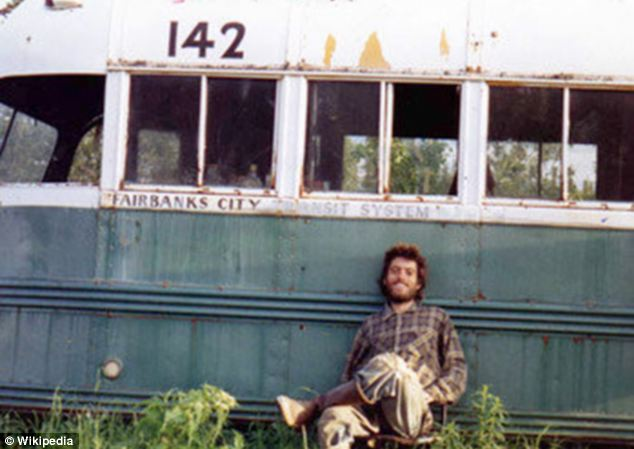Adventurous: The 2007 film is based on the real-life experiences of Chris McCandless, pictured, who was found dead in the Alaska wilderness in 1992 when he was just 24