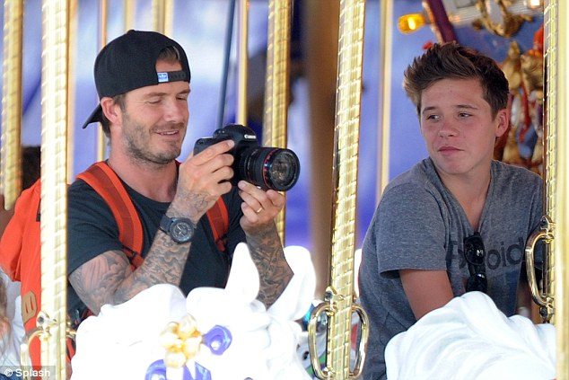 Brooklyn has inherited dad David Beckham's good looks