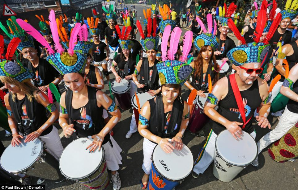 Beats: A drumming group adds to the joyous cacophony of the two day event