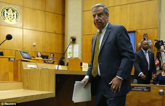 Disgraced: Bob Filner resigned as San Diego mayor on Friday after weeks of pressure and allegations of sexual harassment from nearly 20 women