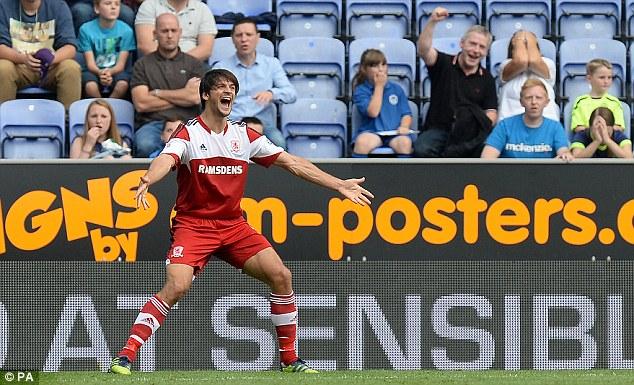 Equaliser: Middlesbrough's George Friend levelled to make it 1-1