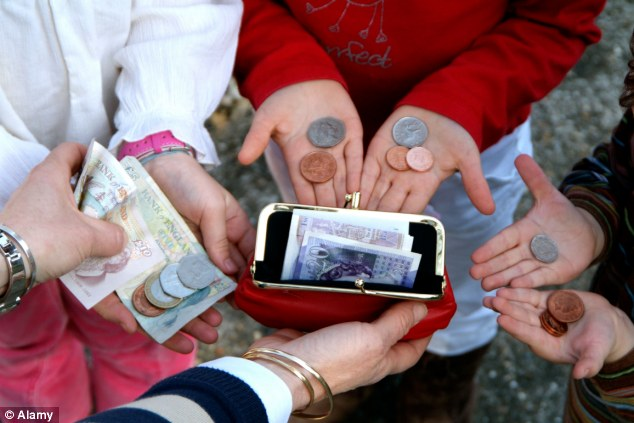 Cashing in: British children are being given the highest amount of pocket money since 2007