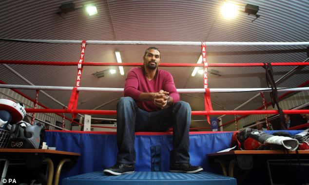 Still going: Haye has shelved his retirement plans to take on Fury