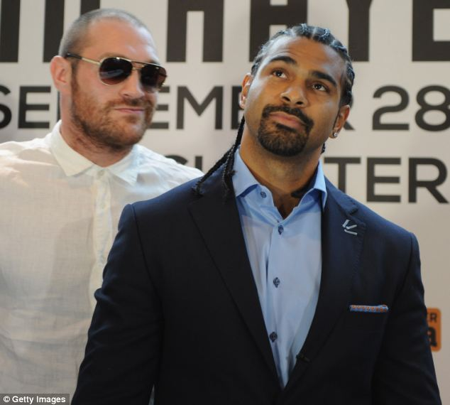 Rivals: Fury and Haye get close at their pre-fight press conference