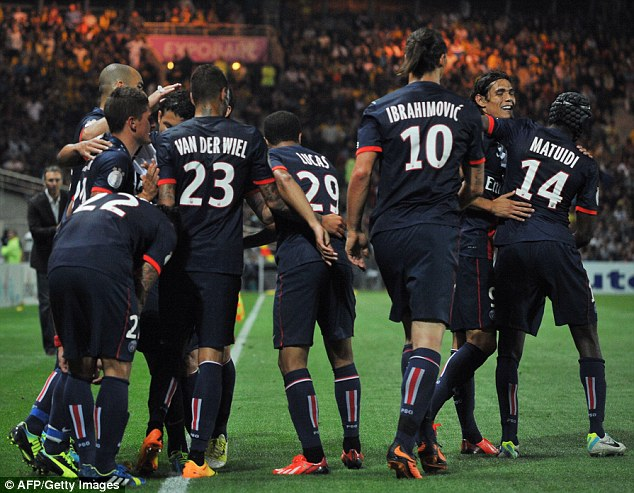 Off the mark: The win was PSG's first of the season